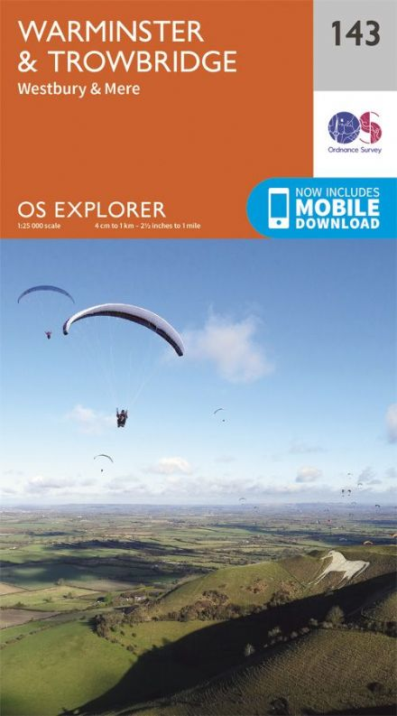 OS Explorer 143 - Warminster & Trowbridge, Westbury & Mere